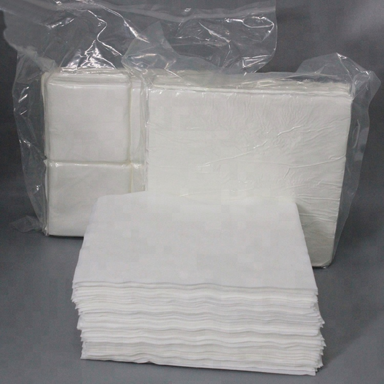 White Wipe Machine Microfiber Cleaning Wipes Cleanroom Wipers