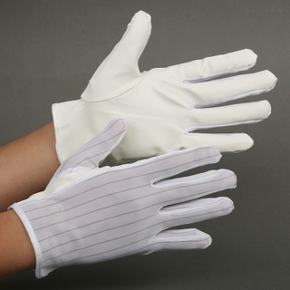 Cleanroom pu palm fit ESD gloves
