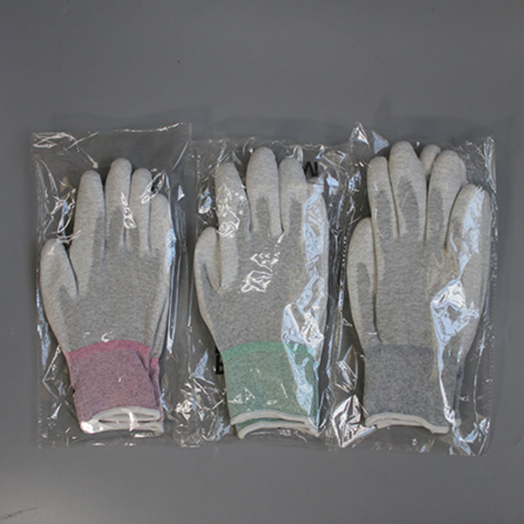 Wholesale High Quality Carbon Fiber Esd Palm Coated Gloves