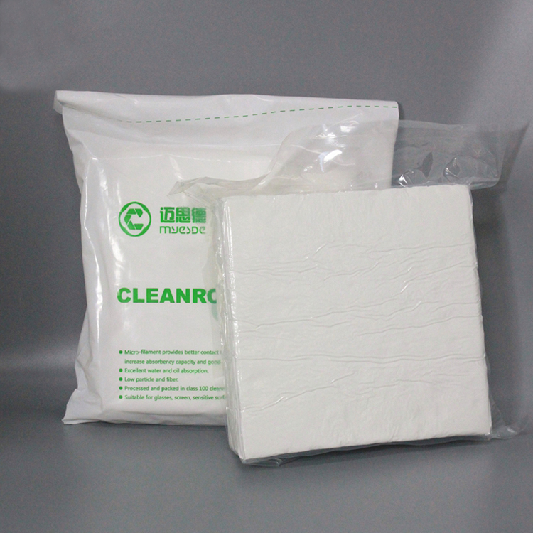230gsm 9inch class100 Hot sale Microfiber Material Cleanroom Wipes Mobile Phone Cleanroom Wipers