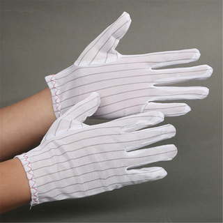 China White Double Sided Anti-static Glove Esd Gloves for Electronic Industry