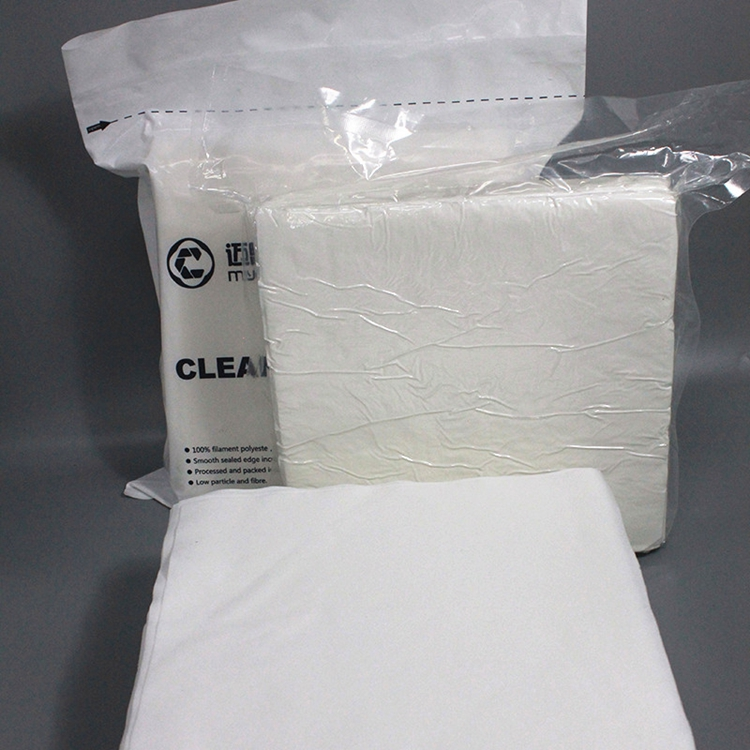 Hot Sales 100% Polyester Cleanroom Manufactured Wiper 100% Polyester Cleanroom Non Dust Wiper