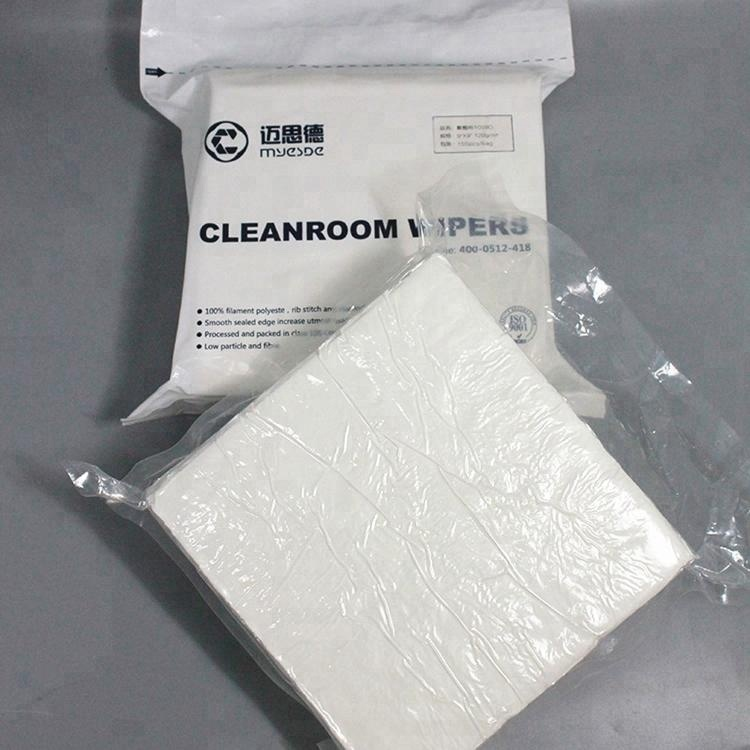 100% Polyester Super Absorption Disposable Cleanroom Wipers