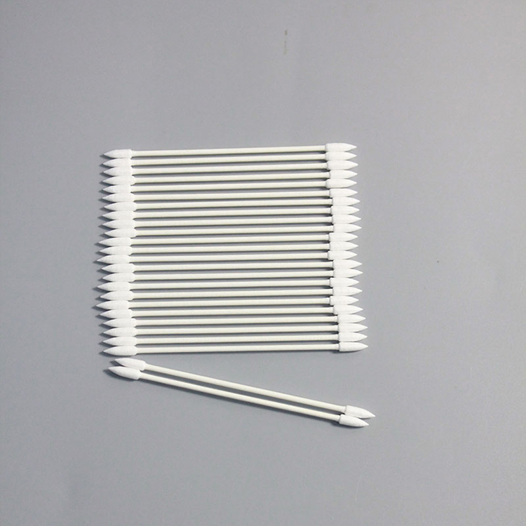Double Tip Industrial Lint Free Corn-Pointed Applicator Anti-static Cotton Swab