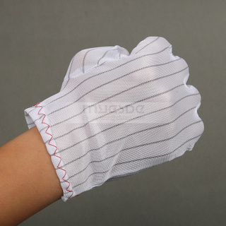 Double sided ESD gloves for industrial