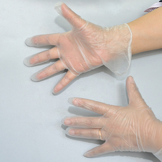 Disposable vinyl hand gloves/dental vinyl gloves/powdered or powder free vinyl gloves