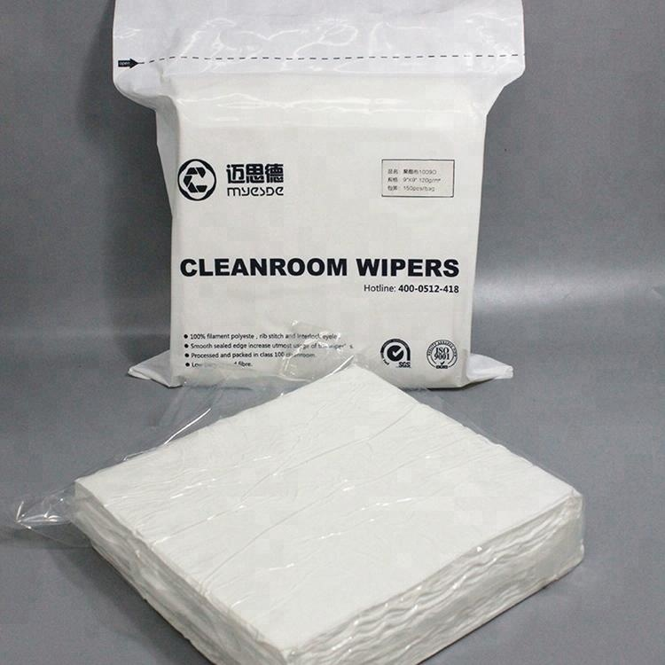 Customized Sterile Low Particulate 100% Polyester Dry Wipes