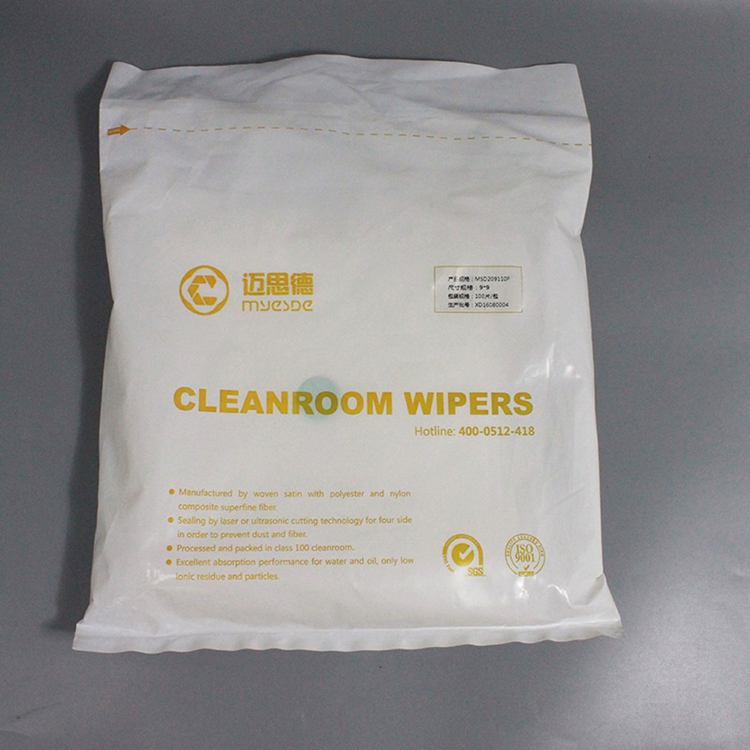 "9""X9"" Cleanroom Lint Free 100% Polyester Laser Cut Cleanroom Wipes"
