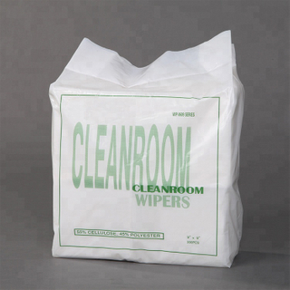 High quality light weight nonwoven cleanroom lint free wipe paper