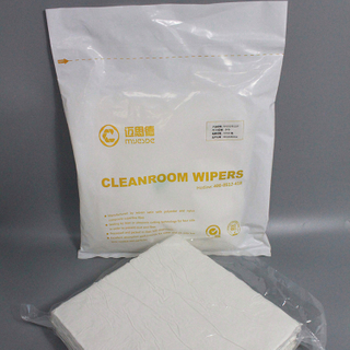 White 100% Polyester Cleanroom Wiper