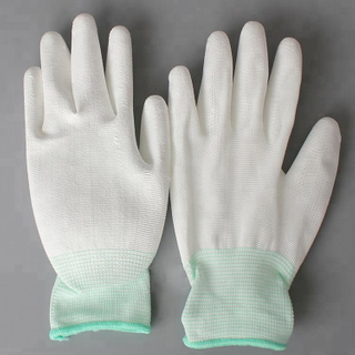 2018 Hot Sale Pu Palm Fit Antistatic Coated Glove