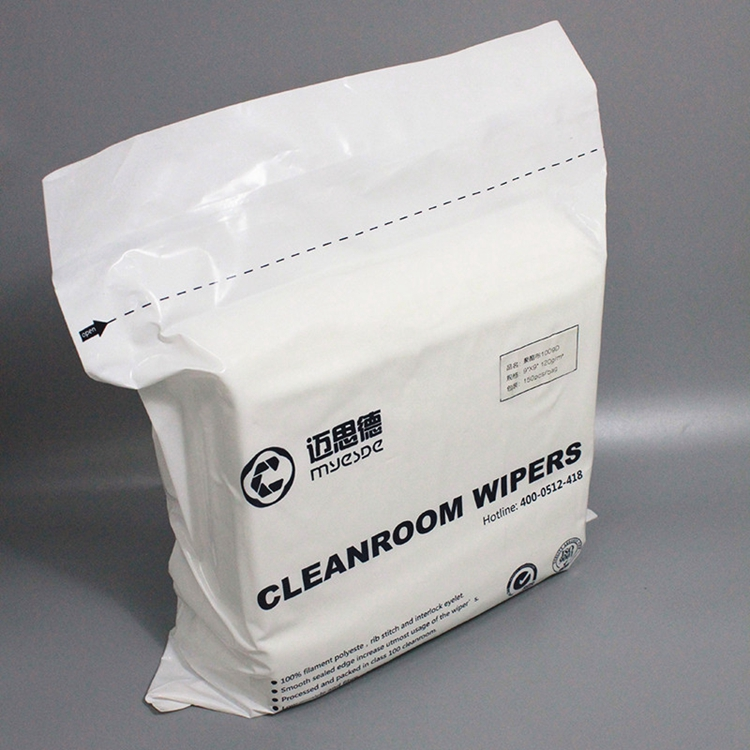 100% Polyester Lint Free Antistatic Cleanroom Wiper