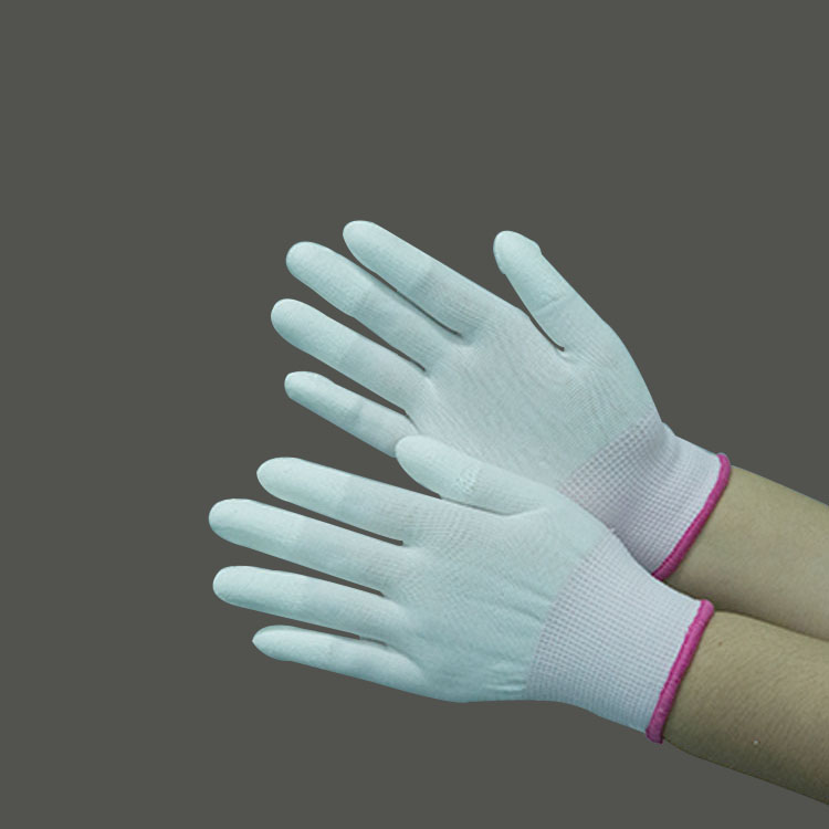 2019 Hot Sale Finger tip Coating Pu Esd Gloves