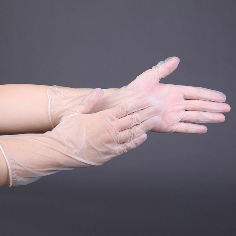 High quality powder free disposable 12inch vinyl gloves for factory