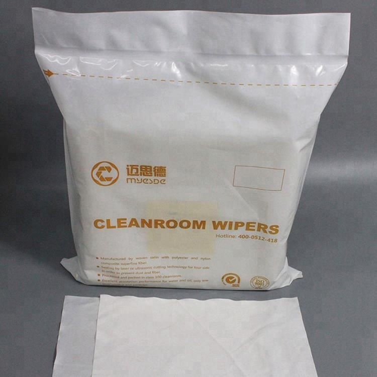 Best Clean High Quality Class 100 Laser Sealed Lint Free 100%Polyester Cloth Cleanroom Wipers For Cleaning