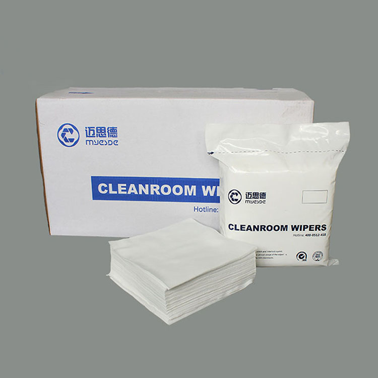110g New Style Ultrasonic Sealed Edge Cleanroom Wiper White 9 Inch Cleanroom Wipers pcb cleaning cloth