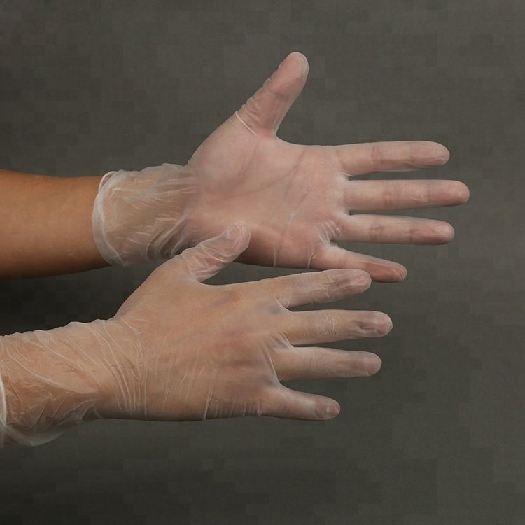 SGS Certificate Industry Grade Powder Free Disposable Vinyl PVC Gloves