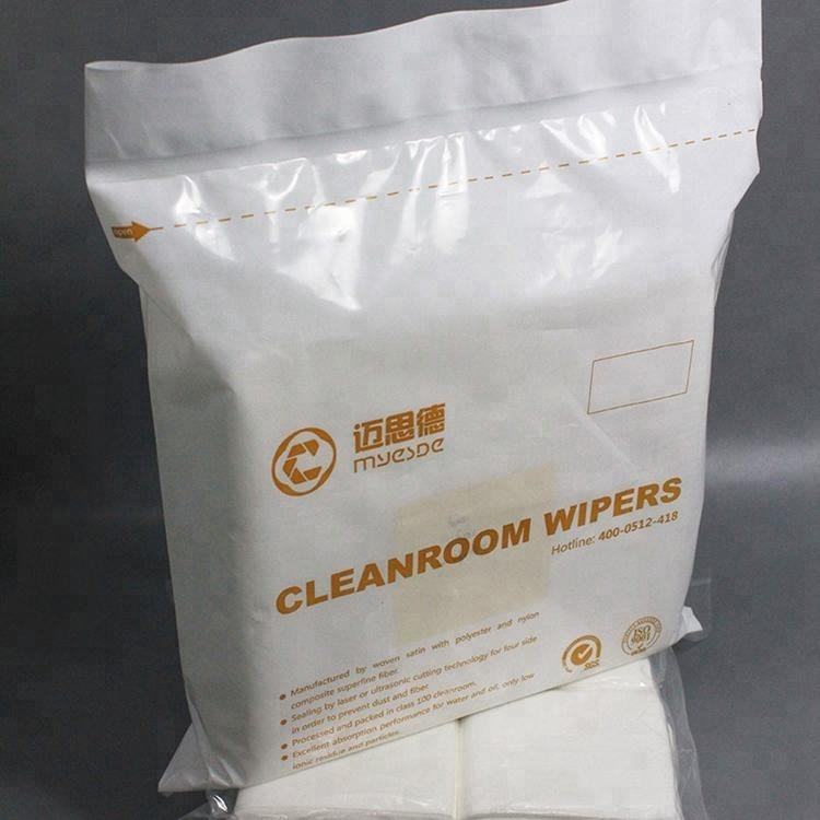 Wholesale 100% Polyester Cleanroom Manufactured Wiper