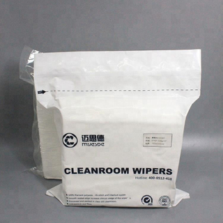 Good price 140g Disposable Cleanroom Wiper 100% Polyester Wiper 100% Polyester Clean Dry Wipes