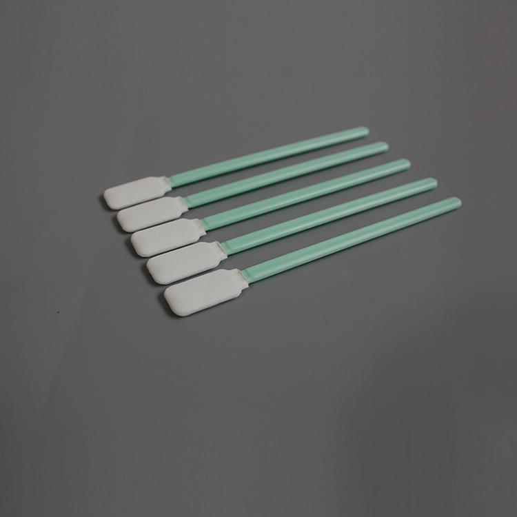Semiconductor Use Green Handle High Quality Polyester Esd Cleanroom Swab