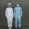 Polyester Antistatic ESD Clean Room Clothing Overcoat Smock Lab Coat Uniform Workwear Suit