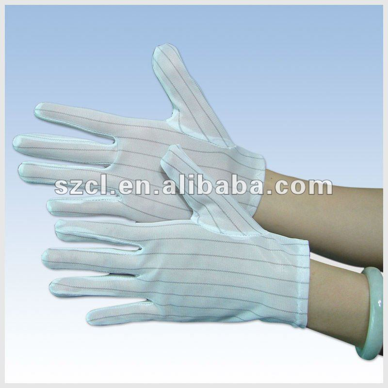 PU Coated Antistatic ESD Gloves and Industrial Work Glove