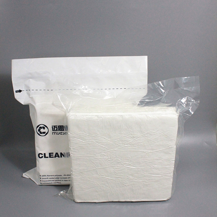 Cleanroom Cleaning Cloth Polyester Cleaning Wipe