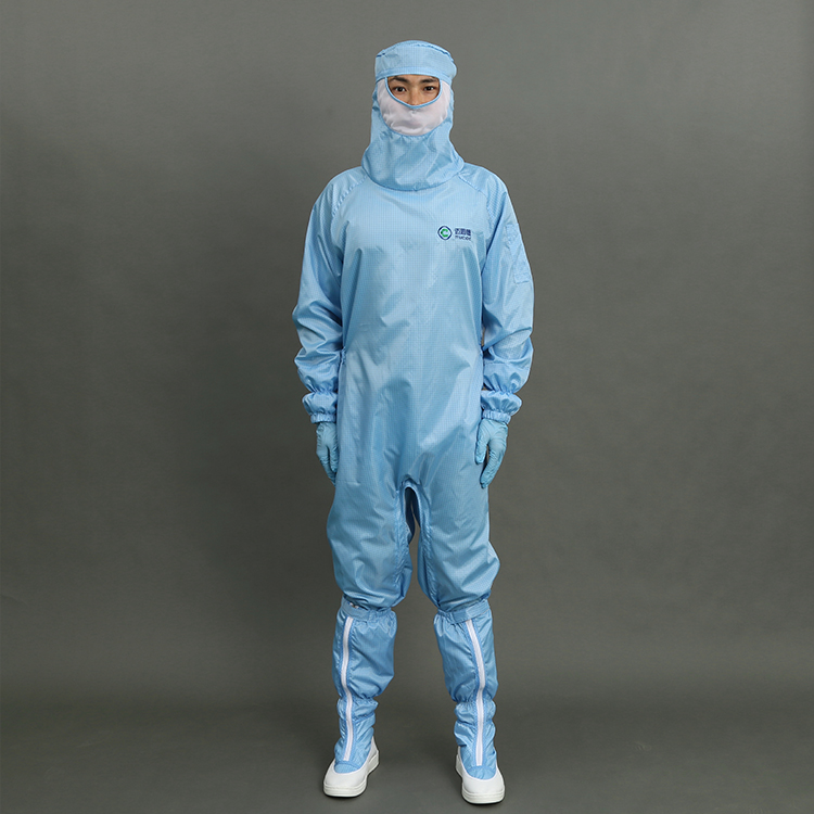 Wholesales 5mm Gride ESD Cleanroom Clothes ESD Cleanroom Antistatic Safety Garment in Factory