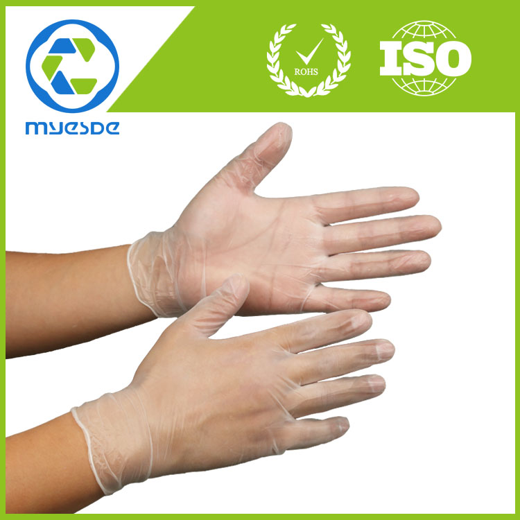 9inch disposable PVC gloves for industry