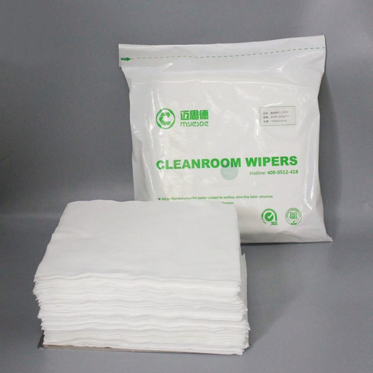 China Supplier Lcd Screen Microfiber Industrial Lint Free Cleanroom Wiper