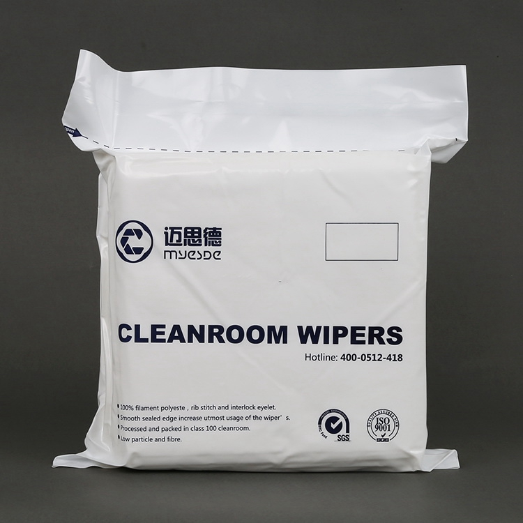 "9""x9"" Clean Class 1000 Laser Cutting Lint Free Polyester Cleanroom Wiper"