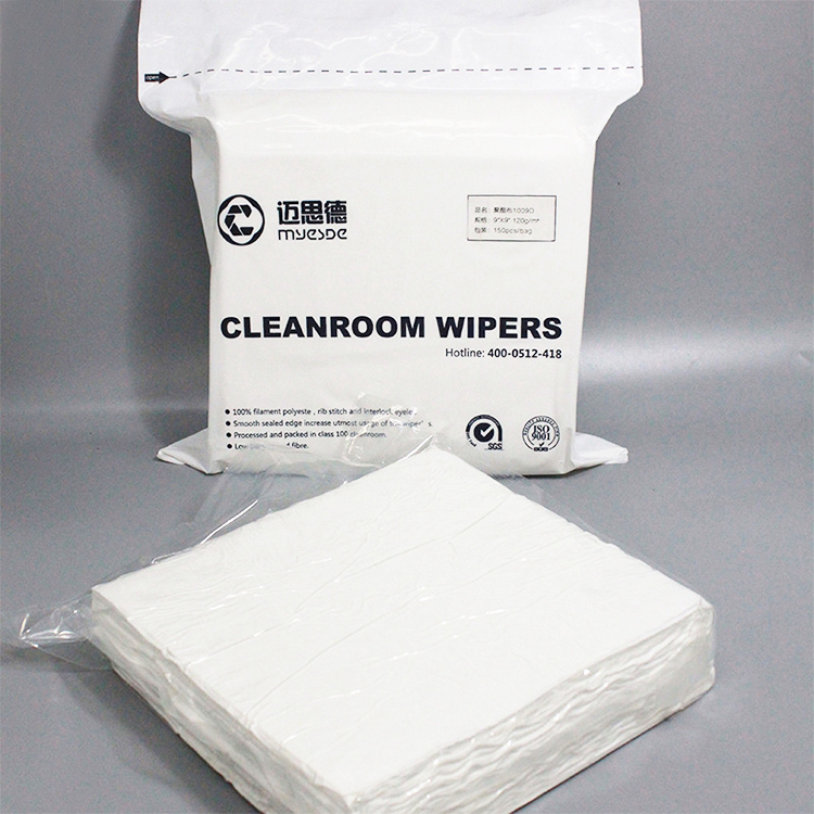 ISO9001 140gsm 100% Polyester Cleanroom Wiper for Pharmaceuticals