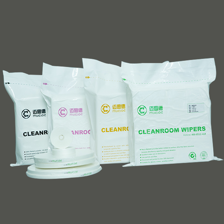 210gsm 4inch class100 Hot Sales Cleanroom Wipers Chinlon Cleanroom Wiper microfiber clean room wipes