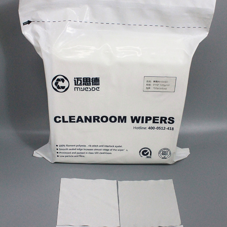 115g 9*9inch high quality Industry Usage Wipers Lint Free Cleanroom Wipers 100% polyester cleaning wipes