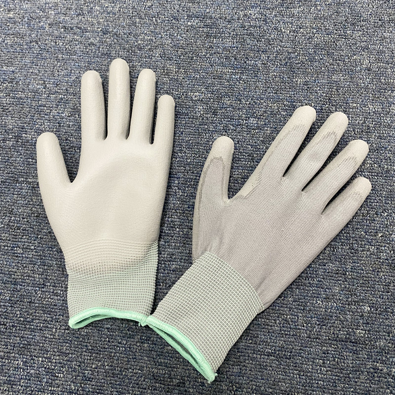 High Quality Esd Carbon Fiber Pu Coated Palm Fit Gloves